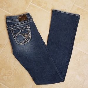 SILVER TUESDAY JEANS 27 LONG